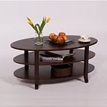 TMS London 24 x 42 x 23 1/2 Solid Wood/MDF 3-Tier Coffee Table, Espresso