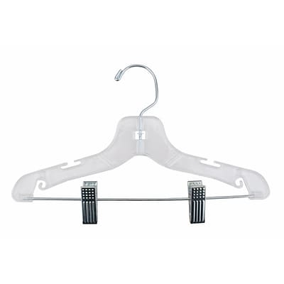 NAHANCO 12 Plastic Super Heavy Weight Suit Hanger, Clear, 100/Pack