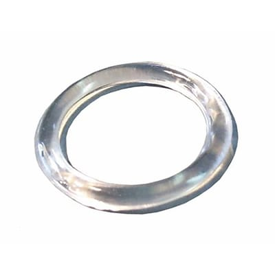 NAHANCO 1 1/4 Plastic Small Scarf Ring, Clear, 500/Pack, 500/Pack