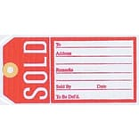 NAHANCO 2 5/8 x 4 1/4 Sold Tag, Red/White, 1000/Pack