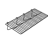 Econoco BLK/2412 Gridwall Straight Shelf, 12 x 23 1/2, Black
