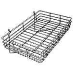 Econoco GWS/92 Gridwall Basket, Chrome, 4 1/2 x 24 x 15, 4/Pack