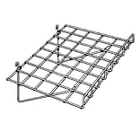 Econoco GWS/93 15 x 24 Gridwall Straight Shelf with Front Lip, Chrome, Metal, 4/Pack