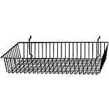 Econoco BSK11/B Shallow Basket, Black, Semi-Gloss, 24 x 12 x 4, 6/Pack
