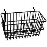Econoco BSK17/B All-Purpose Narrow Basket, Black, Semi-Gloss (BSK17/B)