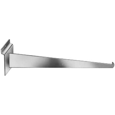 Econoco SW/12KB-SC 12 Straight Knife Bracket, Metal, Satin Chrome, 48/Pack