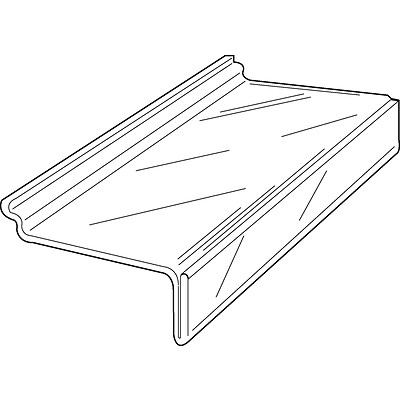 Econoco JM4SL/ST 4 x 10 Injection Molded Shoe Shelf, Clear, Acrylic, 100/Pack