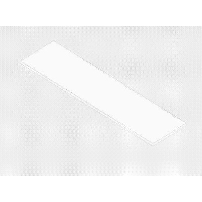 Econoco PW/1448WH 14 x 48 Melamine Shelf, White, Edge Banding