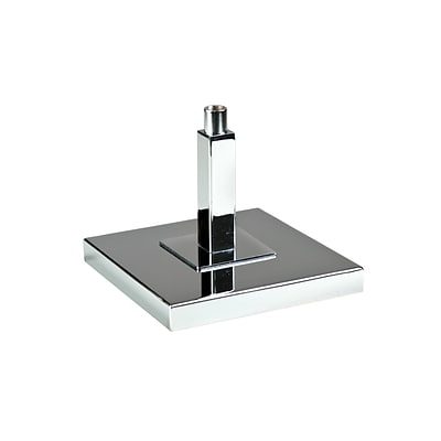 Econoco 6 Square Display Base, Chrome6/Pack