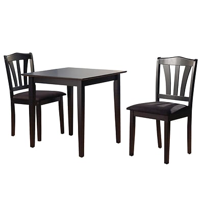 Beautiful TMS Metropolitan 29 X 30 X 30 Rubberwood 3 Piece Dining Set, Black