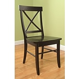 TMS Easton Crossback Solid Wood Desk Chair; Black