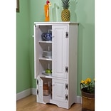 TMS 4-Shelf Wood Tall Cabinet; White (61888WHT)