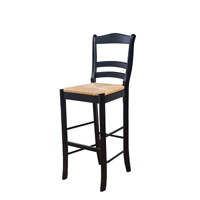 TMS Paloma 30 Wood Bar Stool; Black