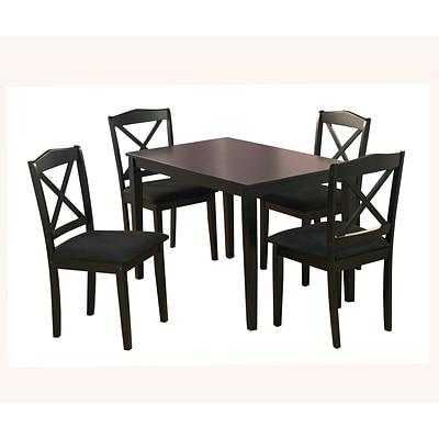 TMS Mason 29 X 45 X 28 Rubberwood 5 Piece Crossback Dining Set, Black