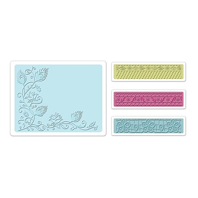 Sizzix® Textured Impressions Embossing Folder, Peacock Vine Set