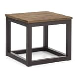 Zuo® 19.7 x 19.7 Fir Wood Civic Center Side Table, Distressed Natural