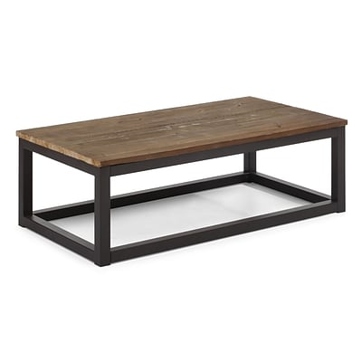Zuo® 43.3 x 23.6 Fir Wood Civic Center Long Coffee Table, Distressed Natural