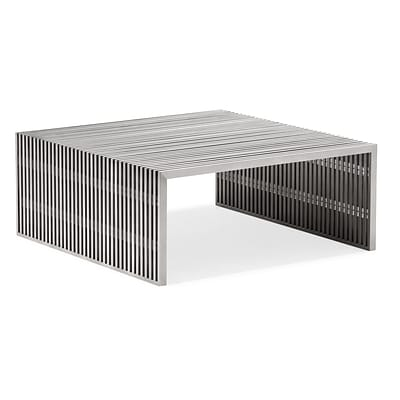 Zuo® 39 x 38 Stainless Steel Novel Square Coffee Table