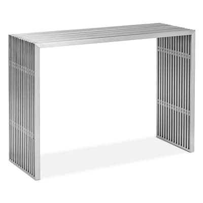 Zuo® 42.8 x 15 1/2 Stainless Steel Novel Console Table