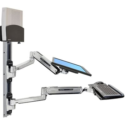 Ergotron  45-359-026 42 LX Sit-Stand Wall Mount System for CPU and Keyboard