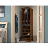 Versatile by Bestar 25 Cubby Storage Unit; Tuscany Brown