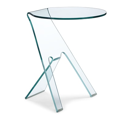 Zuo® 19 1/2 x 19 1/2 Tempered Glass Journey Side Table, Clear