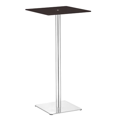 Zuo® Dimensional 19 1/2 x 19 1/2 Painted Tempered Glass Bar Table, Espresso