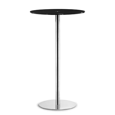 Zuo® Cyclone 23 1/2 Painted Tempered Glass Bar Table, Black