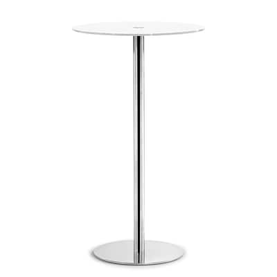 Zuo® Cyclone 23 1/2 Painted Tempered Glass Bar Table, White