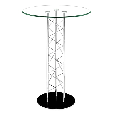 Zuo® Chardonnay 31 Tempered Glass Bar Table, Clear