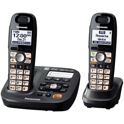 Panasonic® KX-TG6592T Cordless Amplified Phone With 2 Handset; 50 Name/Number