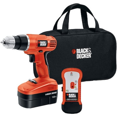 Black & Decker(r) GCO18SFB 18V Cordless Drill with Stud Sensor and Storage Bag
