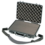 Pelican Laptop Case With Pick N Pluck Foam Liner; Black/Gray