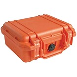 Pelican 1200 Case With Foam; Orange