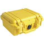 Pelican 1200 Case With Foam; Yellow
