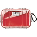 Pelican 1050 Waterproof Case, Red/Clear