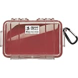 Pelican 1040 Waterproof Case; Red/Clear