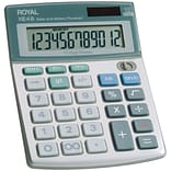 Royal 29306S 12-Digit Display Compact Desktop Solar Calculator