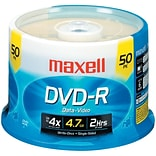 Maxell® 635053/638011 4.7GB 16X Write-once DVD-R; 50-ct Spindle