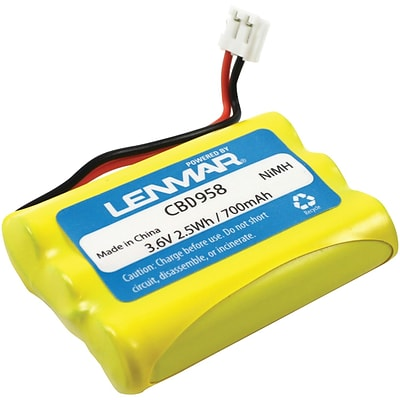 Lenmar® Cordless Phone Battery; 3.6V, Fits AT&T / Lucent 27910, AT&T / Lucent Technologies 102