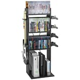 Atlantic Game Central 4 fixed shelves M Tower, Black