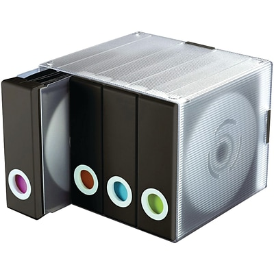 Atlantic® 96635496 96-Disc Album Cube; Black