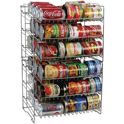 Atlantic® 6-Tier Double Canrack; Silver