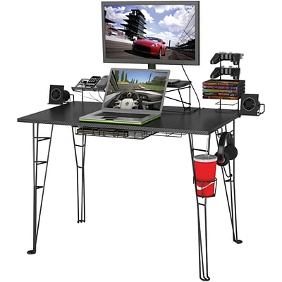 Atlantic Durable PVC Gaming Desk, Black