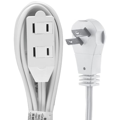 GE 6 2-Outlet Wall Hugger Extension Cord, White