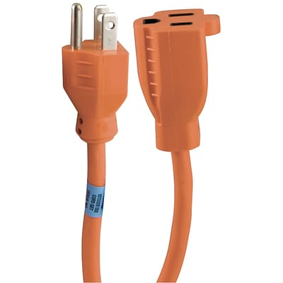 GE 25 1-Outlet Indoor/Outdoor Extension Cord, Orange