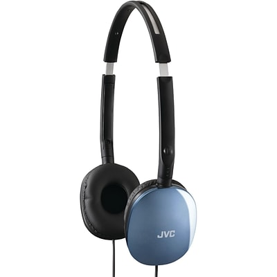 JVC® Flats Lightweight Headband Headphones; Blue