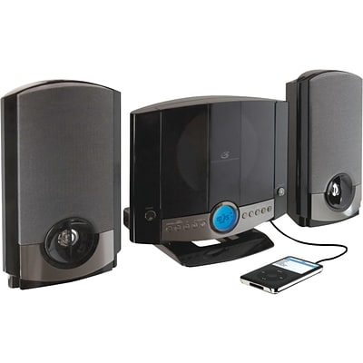 GPX® HM3817DTBLK CD Home Music System; Black