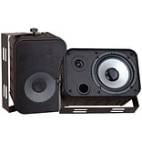 Pyle® PDWR50 Indoor/Outdoor Waterproof Speaker; Black