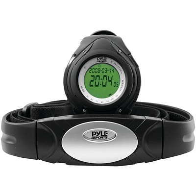 Pyle® Heart Rate Monitor Watch With Minimum, Calorie Counter, and Target Zones, Black